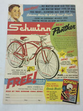 1959 SCHWINN PANTHER bicycle ad page ~ HEY KIDS!