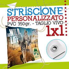 STRISCIONE PUBBLICITARIO PERSONALIZZATO 1X1 striscioni banner economico pvc