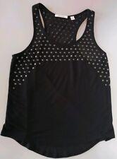 Country Road women's black & metal polka dot singlet size Small
