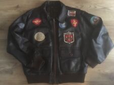 Top Gun Pilot Leather Jacket By Vera Pelle Size XL.