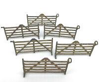 Britains Ltd Horse Hurdle set 6 Diecast Lead Farm Toy Fences 1930s 40s Vintage