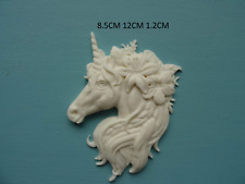 Decorative large unicorn head furniture mouldings resin applique onlay NR1