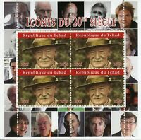 Chad Scouting Stamps 2020 MNH Lord Baden-Powell Scouts Famous People 4v M/S