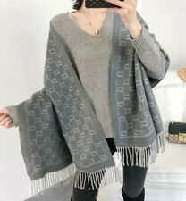 BNWT Womens Grey Soft Touch Large GG Scarf
