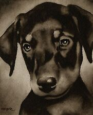 DOBERMAN PINSCHER PUPPY note cards by watercolor artist DJ Rogers