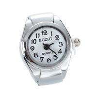 Unisex Quarzlegierung runde weisse Zifferblatt arabische Ziffern Ring Uhr S U9S2