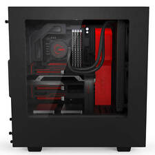 NZXT S340 No Power Supply ATX Mid Tower (Black/Red)