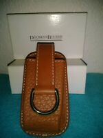 NEW * Dooney & Bourke * Brown Pebbled Leather * D-Ring Car Remote Key FOB Case