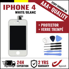 AAA+ LCD TOUCH SCREEN/SCHERM/ÉCRAN WHITE BLANC &VERRE TREMPÉ +TOOLS FOR IPHONE 4