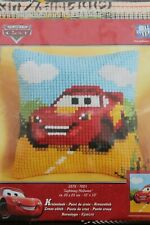 """Vervaco Cross stitch kit. Lightning McQueen from cars movie. 10""""/ 25cm squared."""