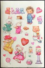 "Vintage Stickers - Hallmark - Adorable Animals - Large ( almost 5.25"" x 8.25"")"