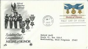 USA Clearance 1983 Saluting Our Congressional Medal of Honor FDC.Washington DC