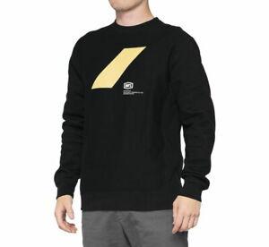 100% Men's Rend Crewneck Sweatshirt S Black 36041-001-10
