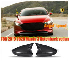carbon LOOK ABS Rear view mirror cover for 2019 2020 Mazda 3 Hatchback Sedan 2X