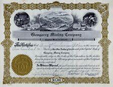 Glengarry Mining Company, Montana, 1930 (100 Shares)