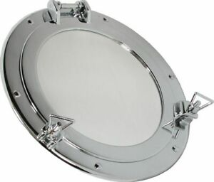 Porthole Mirror, Porthole with Mirror, Brass Ø 9 13/16in