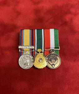 Gulf Medal Opgranby Saudi Liberation Kuwait Liberation Miniature Medals Mounted