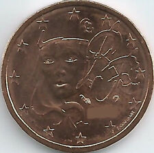 Frankreich 2 Cent Kursmünze (1999 - 2017), unzirkuliert/bankfrisch