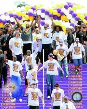 "2009 NBA Finals ""Victory Parade"" Los Angeles Lakers TEAM Kobe Bryant+ 8x10 photo"