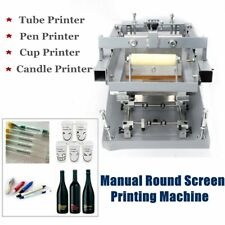 Manual screen printing machine round face curved glass screen printing presses
