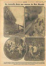 Incendie Grand Magasin Bon Marché Paris rue du Bac Général Clergerie WWI 1915