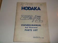 HODAKA 250 /SL OWNERS MANUEL