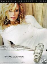 Publicité advertising 2007 Montre Baume & Mercier avec Kim Basinger