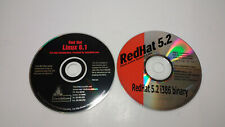 Early (1998/1999) Red Hat Linux Distro CD-Rom Discs v5.2 & v6.1
