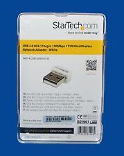 StarTech.com USB 2.0 802.11b/g/n 150Mbps 1T1R Mini Wireless Network Adapter -NEW