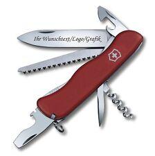 Victorinox Schweizer Taschenmesser FORESTER rot mit Laser Gravur graviert