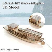 Children DIY Puzzle Toy 3D Small Sail Boat Educational Assemble Building Model