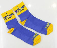 "Verge Skylands Cycling 2 1/2"" Cuff Cycling Socks Medium Blue/Yellow"