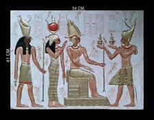 Stucco Ägyptische Relief Hathor Egypt Agypten Stuck gips Bajorrelieve egipcio