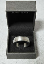 New Men's Stainless Steel Inspirit Smooth Ring Size X
