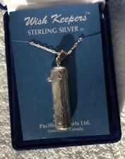 "Sterling Silver Wish Keeper Locket Pendant Necklace - 14"" Chain - New"