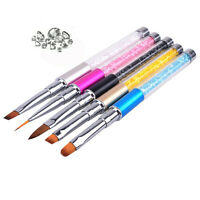 5pcs Crystal Nail Art UV Gel Acrylic Pen Brush Dotting Painting Drawing Polish