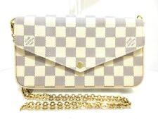 Auth LOUIS VUITTON Pochette Felicie N63106 Azur Damier MI3167 Shoulder Bag