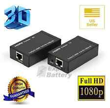 NEW HDMI/DVI Balun Extender over Cat 5e/6 Ethernet Converter 1080p to 196ft 60M