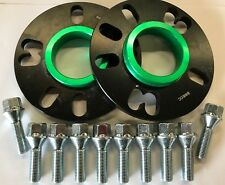 BLACK ALLOY WHEEL SPACERS 5MM 73.1 - 57.1 X 2 + M14X1.5 BOLTS VOLKSWAGEN 5X112 1