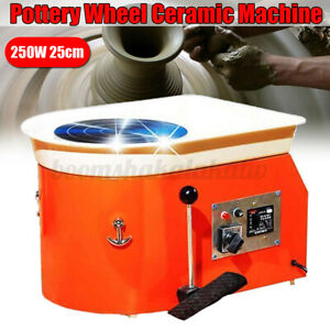 25CM 250W Electric Pottery Wheel Ceramic Machine For Work Clay Art Craft 220V