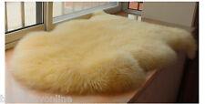 Real Australian Single One Pelt Sheepskin 2'x3' Rug Bedroom Beige Lamb fur rug