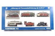 FLEISCHMANN HO GAUGE 4902 GUTERZUG MIT PERSONENBEFORDERUNG DER KPEV. Ltd Ed.