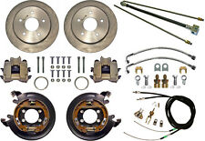 """CURRIE DISC BRAKE KIT,LINES & CABLE,REAR PARKING,BIG FORD NEW,11"""",5x5"""",EXPLORER"""