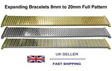 Expanding Watch Bracelet With Full Pattern Silver Gold 2-Tone 8mm to 20mm