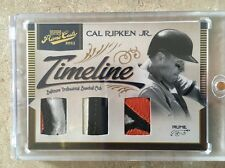 2011 Prime Cuts Timeline Trios Materials Prime #19 (5/5) - Cal Ripken, Jr. NM/MT