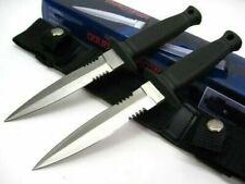 "NEW Double Ninja Thrower 210233  2 pc dagger w/belt Sheath knives 7"" overall CCW"