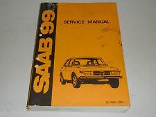 Werkstatthandbuch Reparaturanleitung Service Manual Saab 99 (1969-74)