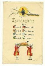 Thanksgiving Good Health, Fortune, Friends, Cheer 1914