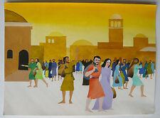 Gouache Aquarelle Scène Religieuse Jésus Christ PIERRE-HENRI BOUSSARD Sard #17