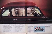 PUBLICITÉ DE PRESSE 1966 RENAULT 4 UNE NOUVELLE VOITURE - ADVERTISING